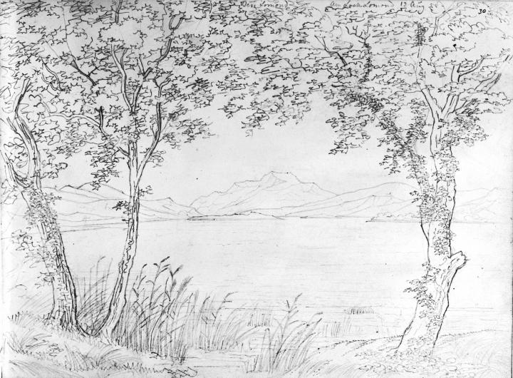 Mendelssohn sketch of Loch Lomond, 12 August 1829
