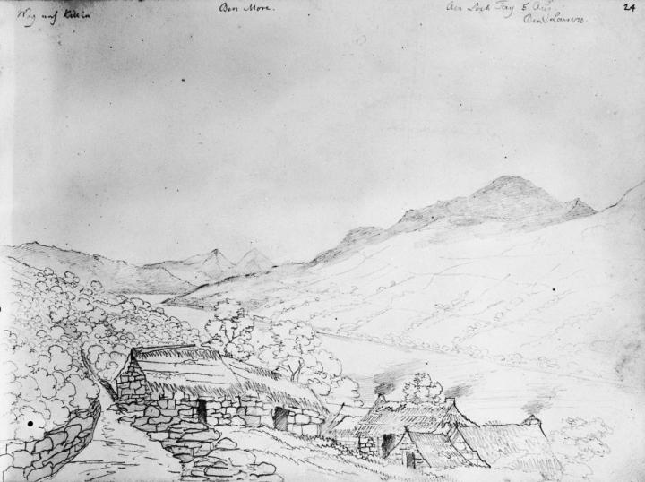 Mendelssohn sketch of Loch Tay, 5 August 1829
